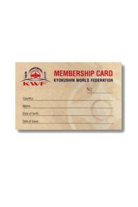 KWF medlemskort